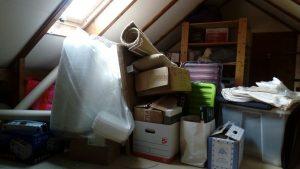 My loft before - all that plastic!