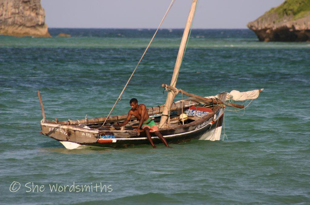 Boats at Watamu Beach