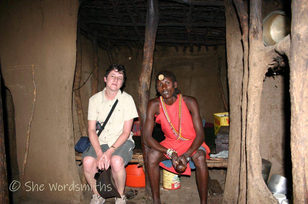 Meeting a Maasai warrior